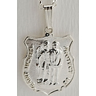Sterling Silver St. Michael Shield Medal with Chain