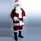 Deluxe Crimson Regency Plush Santa Suit