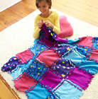Starry Sky Themed Knot-A-Quilt Childrens Quilting Kit