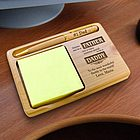 Personalized Father...Daddy Wooden Notepad & Pen Holder