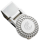 Personalized Silver Golf Ball Money Clip