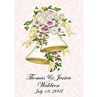 Garden Size Personalized Wedding Bells Flag