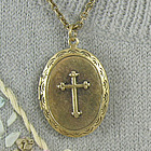 Cross Locket Necklace