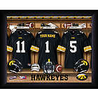 Iowa Hawkeyes Personalized College Football Locker Room Print