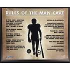 My Man Cave My Rules Plaque