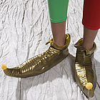 Gold Rubber Leprechaun Shoes