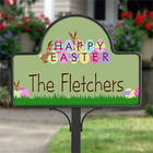 Happy Easter Personalized Decorative Yard Sign