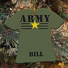 Personalized Ceramic Army T-Shirt Ornament