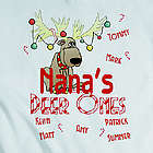 Personalized Candy Cane Deer Ones Sweatshirt