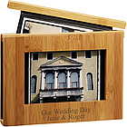 "Personalized 4"" x 6"" Bamboo Photo Album"