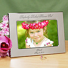 Perfectly Picked Flower Girl Personalized Silver Picture Frame