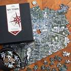 My Town Personalized Aerial Map Jigsaw Puzzle