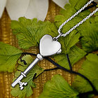 Sterling Silver Heart Key Locket