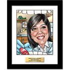 Dentist's Personalized Caricature Art Print