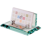 Executive Glass Business Card Holder with Name Plate