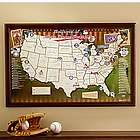 Personalized Major League Baseball Stadium Map