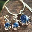 Mystique Lapis Lazuli Necklace and Earrings
