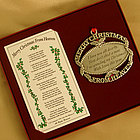 Personalized Christmas from Heaven Bookmark & Ornament Set
