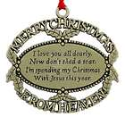 Personalized Gold Plated Merry Christmas from Heaven Ornament