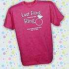 Personalized Last Fling Bachelorette Party T-Shirt