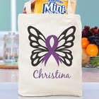 Personalized Butterfly Awareness Ribbon Tote Bag