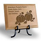 Personalized Pumpkin Patch Wooden Plaque