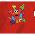 Personalized Elmo Birthday T-Shirt