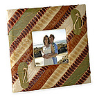 Wedding by the Sea Beach Leaf Picture Frame