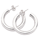 Chunky Hoop Silver Earrings
