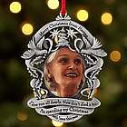 Personalized Merry Christmas from Heaven Photo Ornament