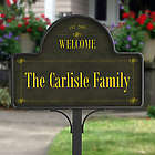 Personalized Family Welcome Yard Stake with Magnet
