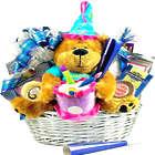 Singing Birthday Bear Gift Basket