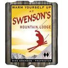 Vintage Style Ski Lodge Tavern Sign