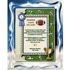 Football Coach Personalized Musical Framed Print