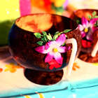 Floral Coconut Cup