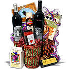 Silver Oak Duo Red Wine and Snack Basket