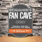 Personalized Fan Cave Classic Tavern Sign