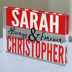 Personalized Always and Forever Acrylic Plaque