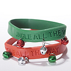 Jingle Bell Rubber Bracelet