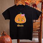 Miss Pumpkin Girl's Black T-Shirt