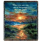 "Footprints ""I Carried You"" Tapestry Throw"