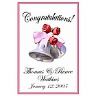 Wedding Bells Personalized Wedding Flag