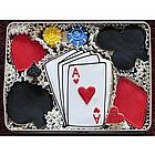Poker Night Sugar Cookie Gift Tin
