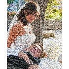 Wedding or Anniversary Photo Mosaic Framed Print