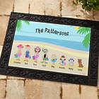 Summer Family Character Personalized Doormat