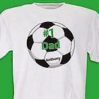 #1 Soccer Fan Personalized Adult T-Shirt