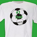 #1 Soccer Fan Personalized Adult T-Shirt