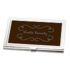 Personalized Chocolate Brown Business Card Holder