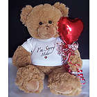 Personalized I'm Sorry Balloon Teddy Bear