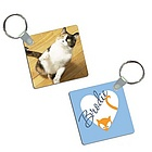Sneaky Kitty Photo Keychain